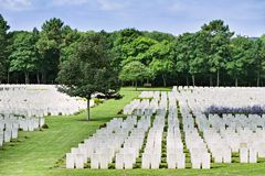 Military cemetery. France. stock images