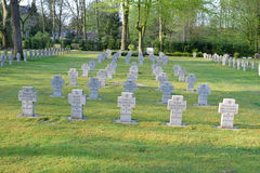 Military cemetery germany second war Stock Images