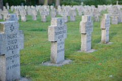 Military cemetery germany second war Stock Photos