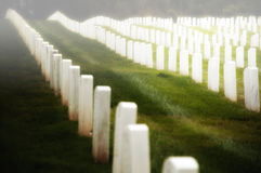 Military cemetery gravestones  Stock Photos