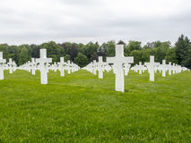 Military Cemetery in Luxembourg Stock Image