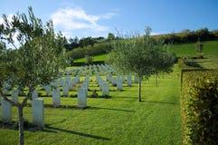 Military cemetery in Montecchio Stock Image