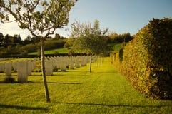 Military cemetery in Montecchio Stock Photos