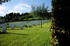 Military cemetery in Montecchio Royalty Free Stock Image