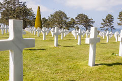 Military cemetery - Omaha Beach, Normandy France. Royalty Free Stock Photography