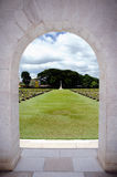 Military Cemetery partner Don Rak. Royalty Free Stock Image