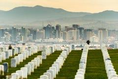 Military Cemetery Sand Diego California Skyline Royalty Free Stock Photo