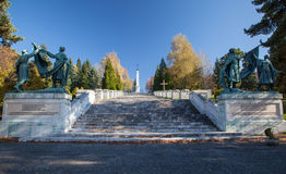Military cemetery, Slovakia Stock Photography