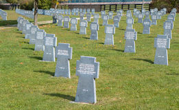 Military cemetery, Slovakia Stock Image