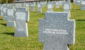 Military cemetery, Slovakia Stock Images