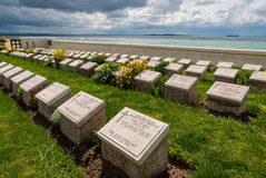 Military cemetery in Turkey. The Lancashire Landing Cemetery on April 18, 2014 at the Gallipoli Peninsula, Turkey. The Gallipoli Peninsula is the site of Stock Images