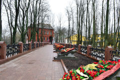 Military cemetery in Vitebsk Royalty Free Stock Images