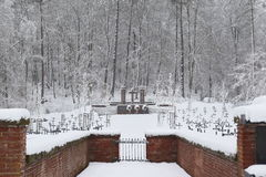 Military Cemetery, War Cemetery, War Cemetery Gate, war cemetery Gate Winter, War Cemetery Gate Winter Forest, War Grave Winter, Stock Images