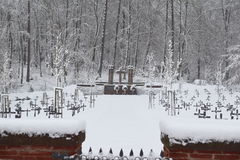 Military Cemetery, War Cemetery, War Cemetery Gate, war cemetery Gate Winter, War Cemetery Gate Winter Forest, War Grave Winter, Stock Photos