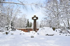 Military Cemetery, War Cemetery, War Cemetery Gate, war cemetery Gate Winter, War Cemetery Gate Winter Forest, War Grave Winter, Royalty Free Stock Photo
