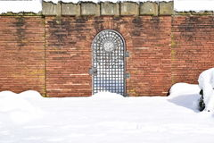 Military Cemetery, War Cemetery, War Cemetery Gate, war cemetery Gate Winter, War Cemetery Gate Winter Forest, War Grave Winter, Royalty Free Stock Images