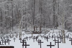 Military Cemetery, War Cemetery, War Cemetery Winter, Military Cemetery Winter, Cemetery Soldiers Winter Snow Stock Photography