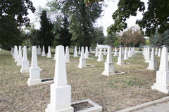 Military cemetery white stones. Royalty Free Stock Photography