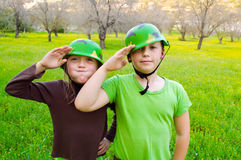 Military children Royalty Free Stock Image