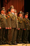 The military choir of the Russian army. Performance under the baton of choral singers and soloists  of the military song and dance ensemble of the North-Western Stock Image