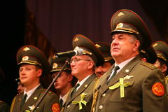 The military choir of the Russian army. Performance under the baton of choral singers and soloists  of the military song and dance ensemble of the North-Western Stock Photography