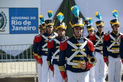 Military civic parade celebrating the independence of Brazil. Rio de Janeiro, Brazil - september 07, 2018: military civic parade celebrating the independence of stock photo