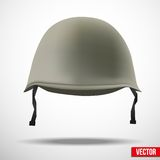 Military classic helmet vector Royalty Free Stock Image