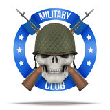 Military club or company badges and labels Royalty Free Stock Image