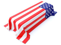 Military Coffin Royalty Free Stock Photography