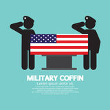 Military Coffin Funeral. Royalty Free Stock Image