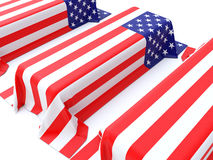 Military Coffins Stock Photos