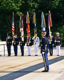 Military Color Guard Arlington Royalty Free Stock Photo