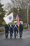 Military Color Guard Marching Stock Photography