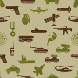 Military colors icons theme seamless pattern eps10 Royalty Free Stock Images
