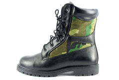 Military combat boot Royalty Free Stock Images