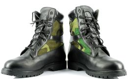Military combat boots Royalty Free Stock Photo