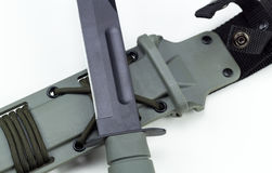 Military combat knife cross pattern ka-bar no logo.  Stock Photo