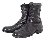 Free Military Combat Tactical Black Army Boots Isolated Royalty Free Stock Photography - 31632847