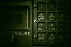 Military communication control panel. Stock Photos