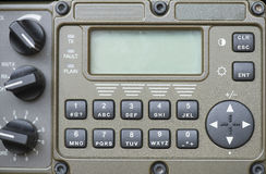 Military communication control panel. Royalty Free Stock Photo