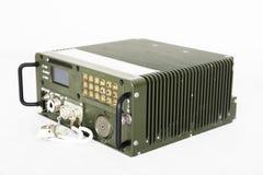 Military communication station isolated on white Royalty Free Stock Image