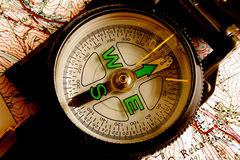 Military Compass Stock Photo