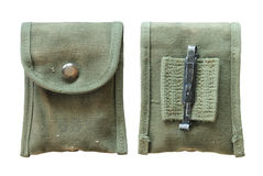 Military compass pouch royalty free stock images