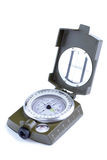 Military compass on a white background. Royalty Free Stock Photo