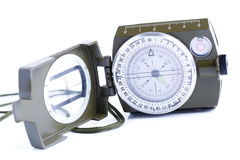 Military compass on a white background. Royalty Free Stock Photography