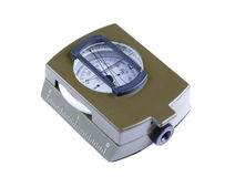 Military compass on a white background. Stock Photo