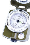 Military compass on a white background. Stock Images