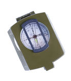 Military compass on a white background. Stock Photos