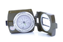 Military compass on a white background. Royalty Free Stock Photos