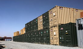 Military containers Stock Photo